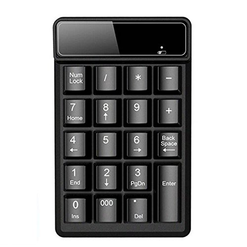 2.4G Wireless Mini Number Pad Keyboard 19-Key Financial Accounting Numeric Keypad Keyboard Extensions for Data Entry in Excel for Laptop, PC, Desktop