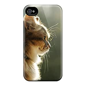 Cute Tpu AmacaAcc Nice Cat Case Cover For Iphone 4/4s