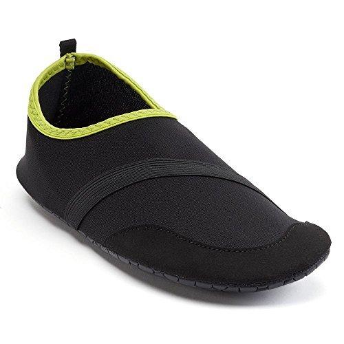 FitKicks Mens Active Lifestyle Footwear - Black - Large