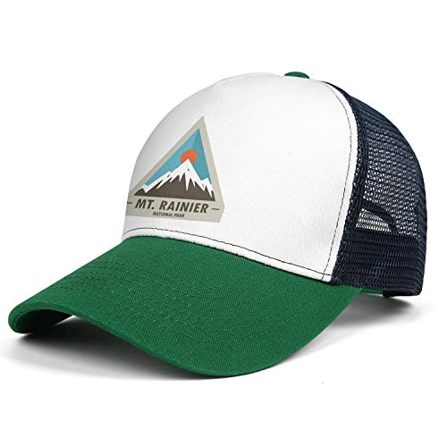 MT. Mount Rainier National Park Baseball Hats Hip Hop Cotton Adjustable Mesh Sports Caps Unisex
