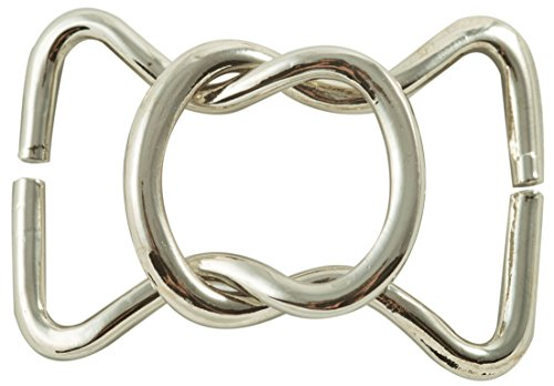 Interlocking Horse shoe shaped ring clasp closure in Nickel Finish
