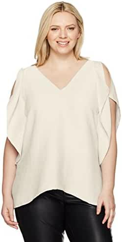 RACHEL Rachel Roy Women's Plus Size Flutter Drape Top