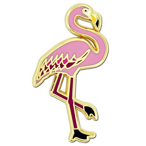 PinMart's Pink Flamingo Tropical Bird Animal Enamel Lapel Pin by PinMart