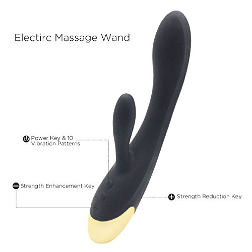 Tablet Computers with 10 Speed LED Vibrator Light Portable Electronic Mobile USB Rechargeable Power Suitable for Home Personal Fitness Sports Wireless Wand Massager -Black by dgtaqu (Image #4)
