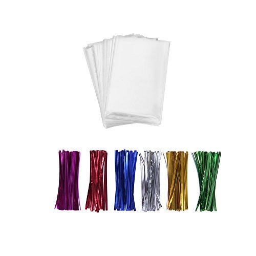 (200 Treat Bags 3x4 with 200 Twist Ties 4
