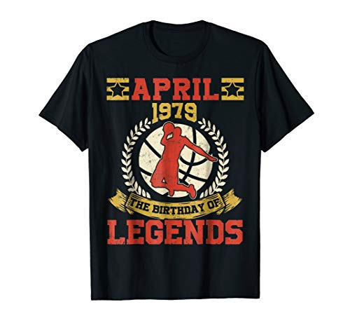 (April 1979 40th Birthday Of Basketball Legend T-Shirt)