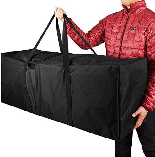 "COOLBEBE 47"" Sports Duffle Bag - Extra Large Travel Duffel Luggage Bag with Upgrade Zipper, Durable & Water Resistant, Black"