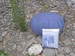 Meditation Cushion; Inflatable, Zafu; Blue (Medium)