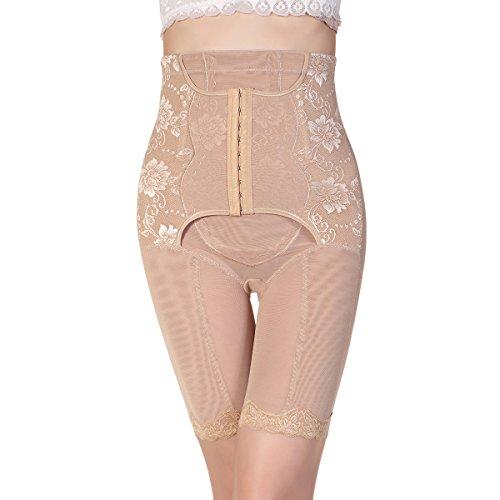 Shymay Women's Hi-Waist Seamless Thigh Slimmer Tummy Control Shapewear Boyshort, Nude, Tag Size 3XL=US Size (Extra Firm Control Long Leg)