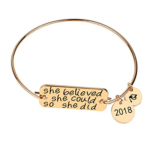 Gold Bracelet Jewelry Graduation Gifts - Ingooood 2018 Inspirational Bracelets Series