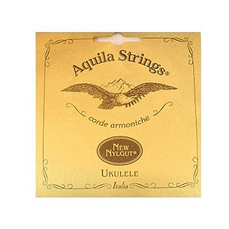 Aquila 17U Aquila Tenor-Ukulele-6string-Satz 17U, New Nylgut, gCcEAa Stimmung DGBE, Saitenlänge 76 cm Saitenlänge 76 cm