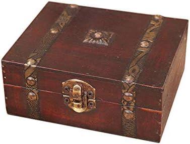 Onegirl - Caja de almacenamiento de madera vintage con cierre de ...