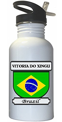 vitoria-do-xingu-brazil-city-white-stainless-steel-water-bottle-straw-top