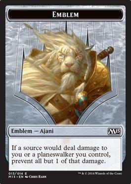 Magic The Gathering Emblem Ajani 013014 Magic 2015 By