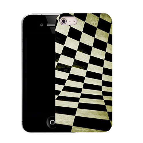 Mobile Case Mate IPhone 4s clip on Silicone Coque couverture case cover Pare-chocs + STYLET - distorted chequered pattern (SILICON)