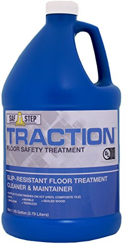 Slip Floor Wax - Dynamic Research Company TR128 Traction Slip Resistant Floor Treatment Cleaner and Maintainer