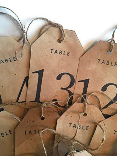 Set of 15 Tea Stained numbered tags, Rustic Table numbers, Vintage Tags, tea dyed. handmade escort tags