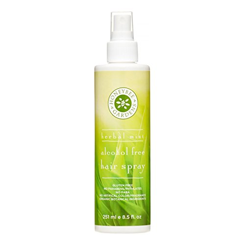 Honeybee Gardens Hair Spray Alcohol Free, Herbal Mint, 8.5 Fluid Ounce (Best All Natural Hairspray)