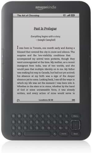 Amazon D01100 Kindle 4th Gen 2GB, eReader ebook Apps Wi-Fi, 6