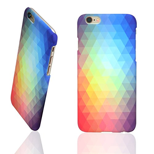 "UNIK CASE-iPhone 6/6s Plus Case [5.5""], Gradient Ombre Triangular Galore Graphic Hard Shell Case Matte Finish"