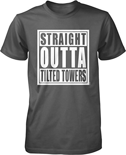 NOFO Clothing Co Straight Outta Tilted Towers Men's T-Shirt, L Char