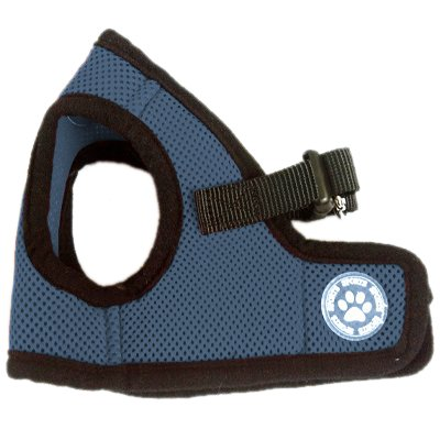 BINGPET BB5005 Classic Soft Vest Dog Puppy Pet Harness Adjustable Extra Small Navy (Extra Small Dog Apparel)