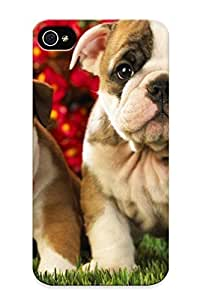 Ideal Tryagain Case Cover For Iphone 4/4s(english Bulldog Puppies ), Protective Stylish Case
