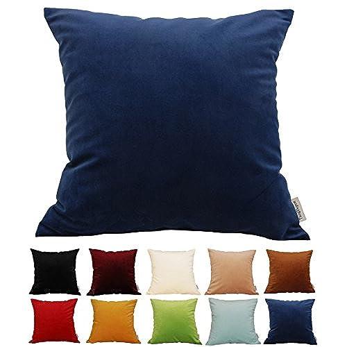 Blue Velvet Pillow Amazon Com