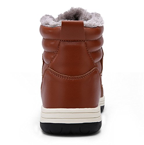 Waterproof Boots Snow Shoes Slip Winter Sneaker Tan Leather Anti Mens Bootie Outdoor Warm Lace Up Fashion Ankle qgUxn5