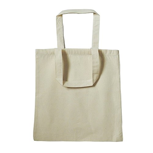 Bulk -20-PACK 100% Cotton Reusable Blank Party Favor Tote Bags, Art and Craft Kids Tote Bags by BagzDepot