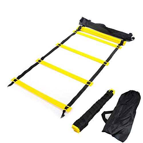 Carejoy 4m Long 8 Rung Agility Ladder Speed Training for Soccer Football Tennis Crossfit Workout-Delivery in 3-6days by Carejoy