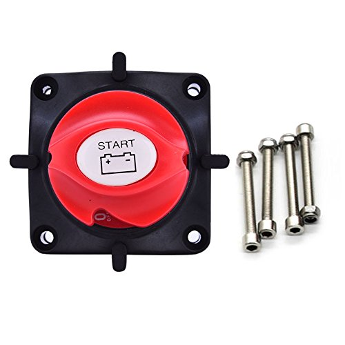 Battery Disconnect Isolator Master Switch, Battery Disconnect Cut On/Off Rotary Switch 12V Boat RV ATV Marine Boat Switch for Marine/Boat/Car Vehicles (Switch Disconnect Rotary)