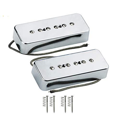 Set of Neck & Bridge Soap Bar P 90 P90 Pickup Alnico 5 Electric Guitar Pickup Single Coil Guitar Parts Chrome