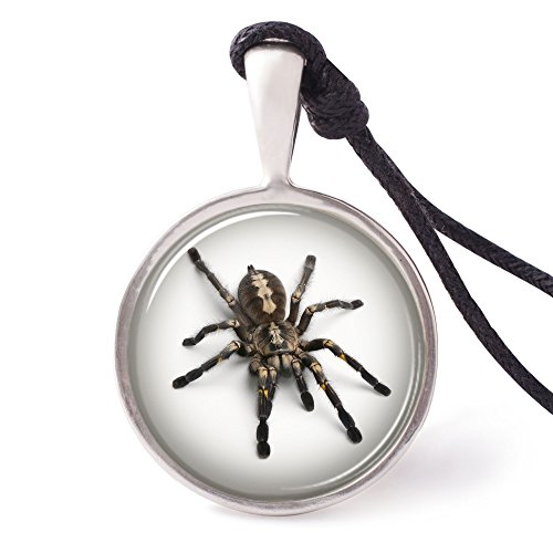 Vietsbay's Tarantula Spider Necklace Pendants Pewter Silver (Pewter Spider Necklace)
