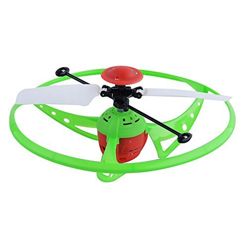 Sakiyr Flying Saucer Helicopter Infrared Sensor Hand Induced Flight with LED Shinning Lights For Kids Toy - Round Disc Sled