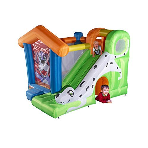 Gymeden Animal Theme Inflatable Jumper Bouncing housewith Slide for Kids Gift Inflatable Jump Toddler Slide Inflatable Castle with Blower Bouncy Castle House Outdoor playset Trampoline Playground Dog
