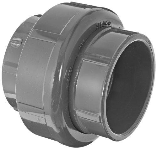 Spears 857 Series PVC Pipe Fitting, Union with Viton O-Ring, Schedule 80, 4