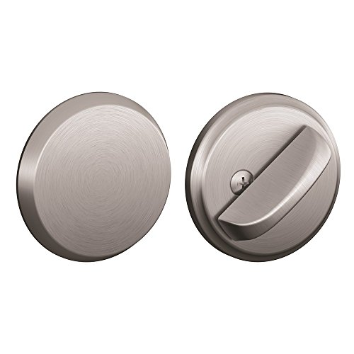 Schlage B81-626 Satin Chrome Door Bolt with Exterior Plate