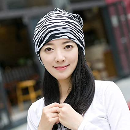 5ff3aba1747 Autumn Water Women s Winter Hats Striped Pattern Beanies Scarf Knitted Hat  Hip-hot Skullies Girls Ponytail Beanie  Amazon.ca  Home   Kitchen