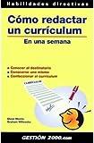 img - for Como Redactar un Curriculum Vitae en una Semana book / textbook / text book