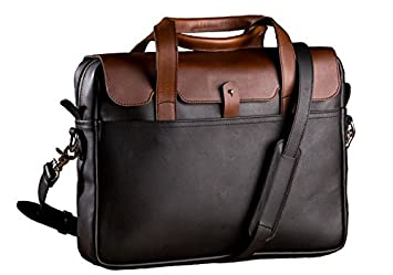 07453cac2842 Pad and Quill Brown The Luxury Briefcase Full Grain Leather Laptop  Briefcase  Amazon.co.uk  Luggage
