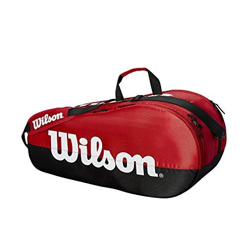 Wilson Team 2 Compartment Tennis Bag, Black/Red