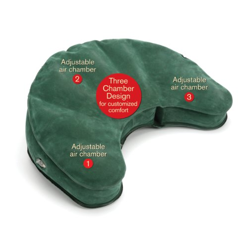 Mobile Meditator Inflatable Meditation Cushion and Travel Pillow - Hunter Green