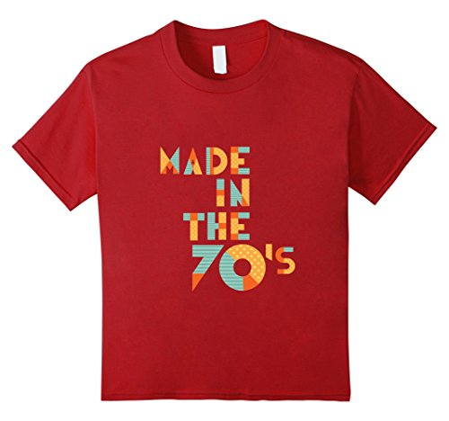 [Kids Made In The 70's - Funny 1970 70s Retro Age T-Shirt 12 Cranberry] (70s Era Clothing)