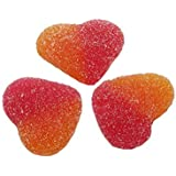 BONBONS COEUR PECHE ACIDE rouge et orange pour bar à bonbons sachet 1kg