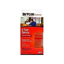 Devcon 2-Ton Epoxy Wood, Concrete, Ceramic Crystal Clear Bottle, Carded 4-1/2 Oz