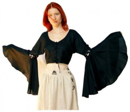 Leonardo Carbone Vampire - Damen Gothic Bluse Velvet Vamp