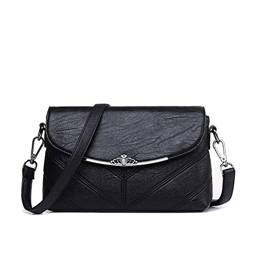 summer and shoulder bandolera chain long handbag slung packet bag satchel spring Bolsos soft Women's bag Black XNQXW fxWnzw18