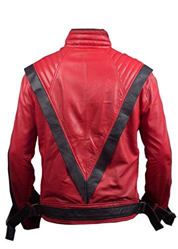 Leatherly Veste Homme Michael Jackson Thriller Faux (synthétique) Cuir Veste