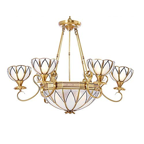 European Style Copper Chandelier/Pendent Lamp Parlour Lamps Baroque Style Luxurious Light Bedchamber Restaurant Chandelier/Pendent Lamp Brass Color Decoration Lamps, BOSSLV